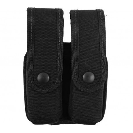 Double Pistol Mag Case/DBL Row Kodra Blk UNCLE-MIKES