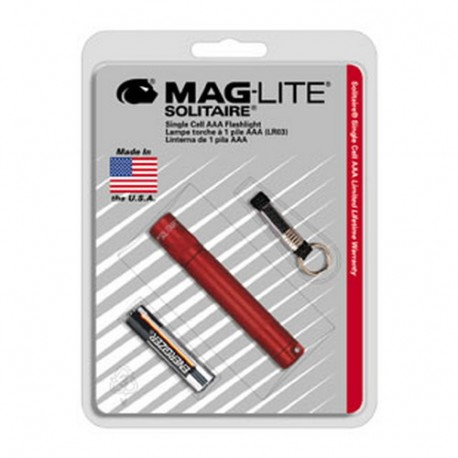 AAA Solitaire Blister Pak, Dk Red MAGLITE
