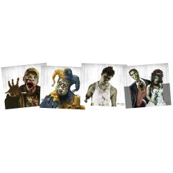 "Zombie Targets 9.75""x9"" 5ea of 4 Designs CROSMAN"