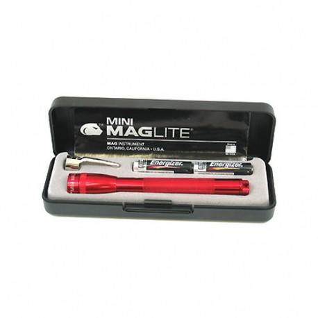 AAA Mini Mag Present-Bat Dk Red MAGLITE