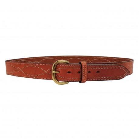 "B9 Fancy Stitched Belt Tan  32"" BIANCHI"