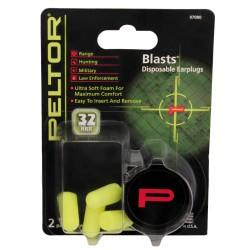 Peltor Sport Blasts,Neon Yel,2 pairs/pk PELTOR