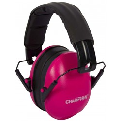 Slim Passive Ear Muffs Pink CHAMPION-TRAPS-AND-TARGETS