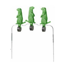 "Triple 5.5"" Radiation Grn Varmint Spinner CHAMPION-TRAPS-AND-TARGETS"