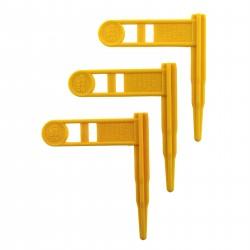 Safety Chamber Flag 3pk Yellow ERGO