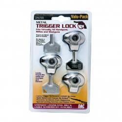 Triple Pack Metal Trigger Lock  - Clam GUNMASTER