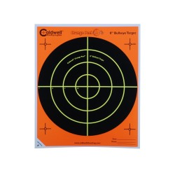 "Orange Peel 8"" bulls-eye: 5 sheets CALDWELL"