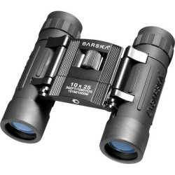 10x25 Lucid View, Black, Compact,Blu Lens BARSKA-OPTICS