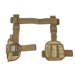 3Pcs Drop Leg Gun Holster And Magazine Ho NCSTAR