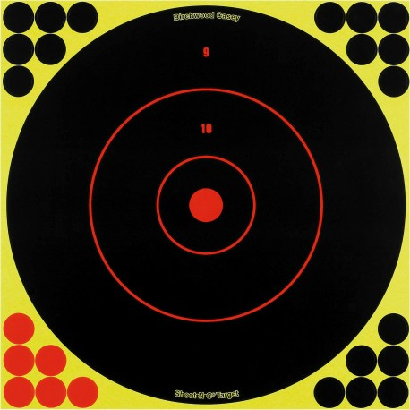 "Shoot-N-C Bull's Eye 12"" Round/ 5 sht pk BIRCHWOOD-CASEY"