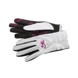 Glove,Wmns Trapper Crk White  M BROWNING