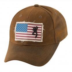 Cap,Liberty Wax Dk.Brown BROWNING