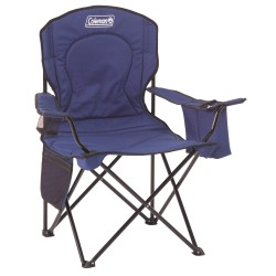 Chair Quad W/cooler Adult Blue COLEMAN