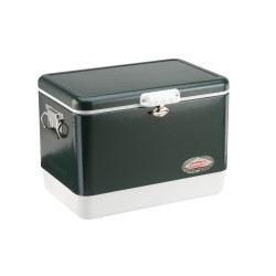 Cooler 54qt Steel Belted Green COLEMAN