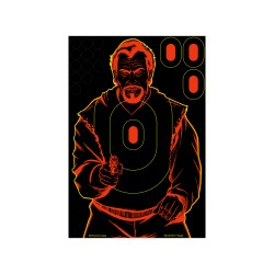 "Shoot N-C Bad Guy 12"" x 18"" Silh. Tgt-5 BIRCHWOOD-CASEY"
