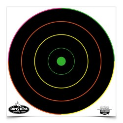 "Dirty Bird Multi-Color 12"" Bull's-eye-100 BIRCHWOOD-CASEY"