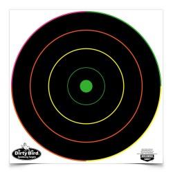 """Dirty Bird Multi-Color 12"""" Bull's-eye-100 BIRCHWOOD-CASEY"""