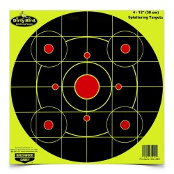 "Dirty Bird Chartreuse 12"" Bull's-eye-25 BIRCHWOOD-CASEY"
