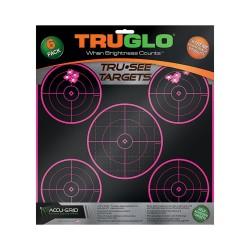 Target 5-Bull 12X12 Pnk 6Pk TRUGLO