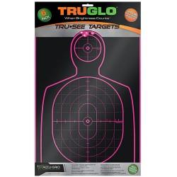 Target Handgun 12X18 Pnk 6Pk TRUGLO