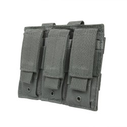 Vism Triple Pistol Mag Pouch/Urban Gray NCSTAR