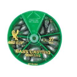 Bass Cast Sinker Assortment 27pcs EAGLE-CLAW