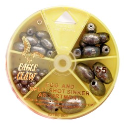 Egg Sinker And Split-shot Assortment 55pc EAGLE-CLAW