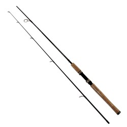 "GRAPHEX 6'6"" 2PC MED-LIGHT SPINNING ROD ZEBCO-QUANTUM"