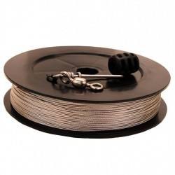 Prem SS Downrigger Cable,400 ft spool,kit SCOTTY