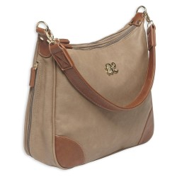 Hobo Style Purse w/Holster Taupe/Tan BULLDOG-CASES