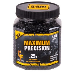 Maximum Precision 6mm BB Blk .25g /5000 CROSMAN