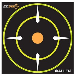 EZ See Adhesive Round Bullseye Tgt 12/pk ALLEN-CASES