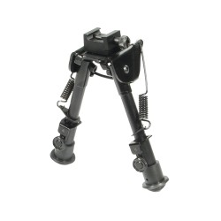"Bipod,Rubber Feet,Center Height 6.1""-7.9"" LEAPERS-INC"