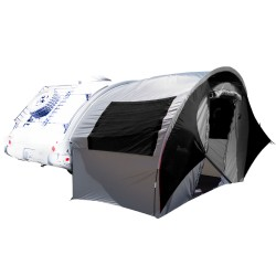 TAB Trailer Side Tent - silver/black trim PAHAQUE