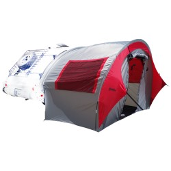 TAB Trailer Side Tent - silver/red trim PAHAQUE