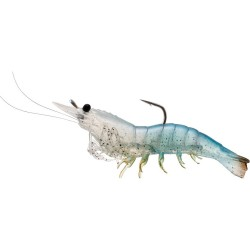 Rigged Shrimp Soft Plstc,white shrimp,2/0 LIVETARGET-LURES