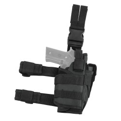 Vism Drop Leg Tactical Holster - Black NCSTAR