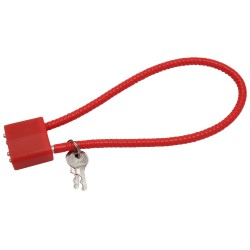 """15"""" CA DOJ Approved Cable Lock (red) GUNMASTER"""