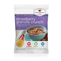 Strawberry Granola Crunch  (4 srv) WISE-FOODS