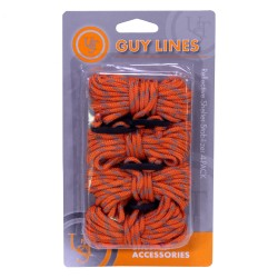 Guy Line Reflective 4-Pk, Orange/Reflect ULTIMATE-SURVIVAL-TECHNOLOGIES