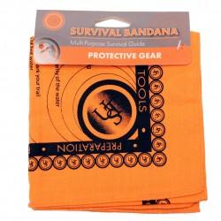 Survival Bandana, Orange ULTIMATE-SURVIVAL-TECHNOLOGIES