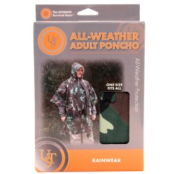 All-Weather Poncho Adult, Camo ULTIMATE-SURVIVAL-TECHNOLOGIES