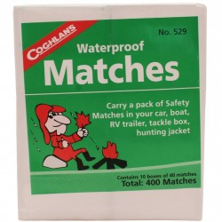 Waterproof Matches, 10 box pack COGHLANS