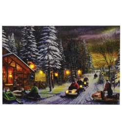 "24"" X 16"" LED Wall Art - Snowmobiles RIVERS-EDGE-PRODUCTS"
