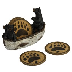 Bears In Boat Coaster Set RIVERS-EDGE-PRODUCTS