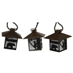 Bear Rustic Lantern Lights 10 Pc RIVERS-EDGE-PRODUCTS