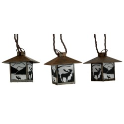 Moose Rustic Lantern Lights 10 Pc RIVERS-EDGE-PRODUCTS