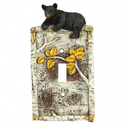 Birch Bear Single Switch Cover RIVERS-EDGE-PRODUCTS