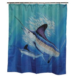 Guy Harvey Shower Curtain RIVERS-EDGE-PRODUCTS