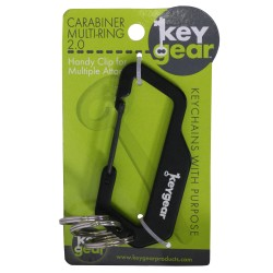 Carabiner Multi-Ring 2.0, Black ULTIMATE-SURVIVAL-TECHNOLOGIES